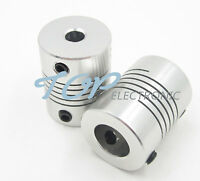 5PCS 6.35 x 8mm CNC Motor Jaw Shaft Coupler 6.35mm To 8mm Flexible Coupling Gadg