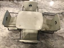Vintage Metal Baby Barbie Doll Table And 4 Chairs