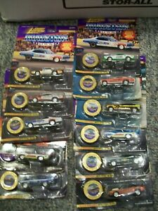 Johnny LIghtning Dragsters Lot of 11 Hawaiian ChiTown LAPD Blue Max Funny Car