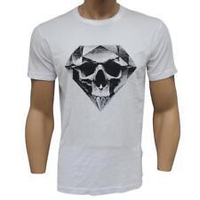 Oakley DIAMOND SKULL T-Shirt Size XL Extra Large White Mens Logo Print Tee Shirt