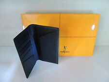 Delta Markiaro,Top Italian Black Leather Wallet 6cc+Money Bills+Extra Pockets.