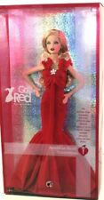 BARBIE GO RED FOR WOMEN NRFB - PINK LABEL new model muse doll collection Mattel