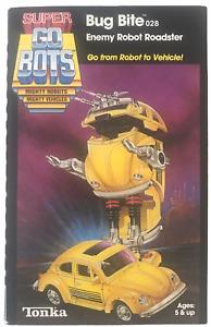 Super Go-Bots Bug Bite Volkswagen Beetle Vintage 1985 Action Figure NEW GoBots