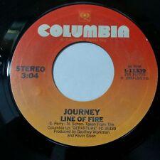 """JOURNEY Line Of Fire b/w Good Morning Girl 111339 Sterling 7"""" 45rpm Vinyl VG++"""