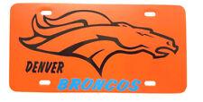 "Denver BRONCOS NFL team Plastic License Plate 12""W x 6""H    ""Buy 2 get one Free"""