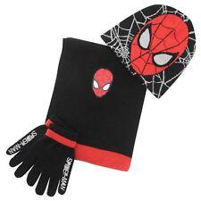 Marvel Spiderman Winterset 3tlg.Mützenset Handschuhe Schal Mütze  Neuware