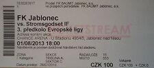 TICKET UEFA EL 2013/14 FK Jablonec - Stromsgodset IF