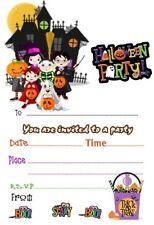 HALLOWEEN PARTY INVITATIONS /INVITES X 20 + ENVELOPES A5 SIZE
