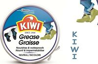 Kiwi Shoe Polish Neutral Grease Polish Leather Care 50ml Nourish & Waterproof-er