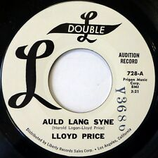 LLOYD PRICE 45 Auld Lang Syne / Merry X-mas Mama DOUBLE L doo wop NM promo ws638