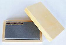 Arkansas Abziehstein Naturschleifstein Messerschärfer ca.100x50mm mit Holzkiste.