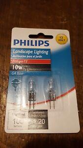 Philips 417212 Landscape Lighting 10W T3 12-Volt Bi-Pin Base Light Bulb, 2-Pack