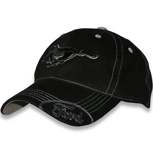 Mustang Running Horse Hat - Black w/Ford Bill - Fast and FREE Shipping to USA!