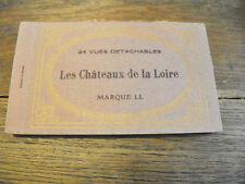 Les châteaux de la Loire 24 vues détachables cartes postales anciennes marque LL