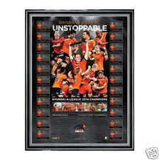 Brisbane Roar FC Champions Unstoppable Signed and Framed 2013-2014