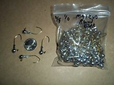 1/8oz #1/0 ROUND HEAD LEAD HEAD JIG MATZUO SICKLE - GOLD 100ct