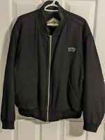 HUGO BOSS Rare Vintage Wool/Cashmere Bomber Black Jacket L/XL Made in Germany