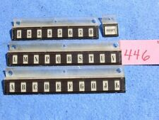 Rock-ola 446 Key Plate Letters Inserts # 46787 + 46788 & Numbers Insert # 46789