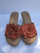 Previously owned (barely) Born Safflower Sandals in orange -  Size 10