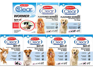 Bob Martin Clear Flea Removal and Wormer Tablets Spot On for Cats and Dogs