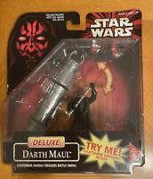 Deluxe Darth Maul Lightsaber Handle Figures Toys Hasbro 1998 Star Wars Episode I