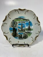 Chicago Illinois Souvenir And Collectible Plate Decorative 8-1/4""