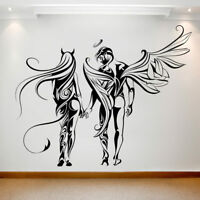 Large Wall Decal Sticker Art Removable Waterproof Vinyl Transfer Angel & Demon