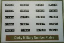 Dinky Military number plates ( sticker )