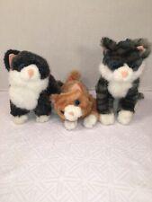 VGUC-Melissa & Doug Kitten Cat Lot of 3 Lifelike Lovables Stuffed Animal