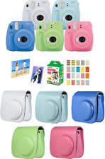 Fujifilm Instax Mini 9 Camera + Instant Film 20 sheets = 7 Piece Bundle