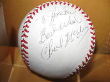 Signed Baseball pitcher Chuck McElroy rawlings Great signature