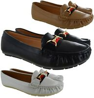 LADIES WOMENS DESIGNER STYLE CASUAL WORK COMFORT PUMPS LOAFERS SHOES SIZE 3-8