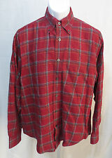 Nautica Mens Size M Long Sleeve Button Front Shirt Cotton Plaid Top VGC