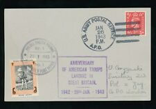 Poland Ww2 1943 Usaps Postmark on Gb Kg6 + Tank Man Fpo Seal.American Landing