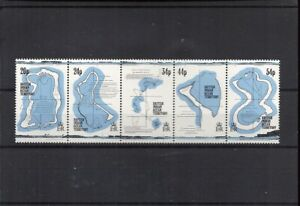 B.I.O. 1994  #147a-e (Strip of 5) , Cpl Set / Mint Never Hinged: SCV $11.00