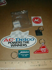 AC Delco keychain + Battery Keyring GM General Motors Original NEW sticker lot