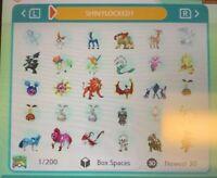 ALL Shiny Locked x6 Regies Crown Tundra Pokemon Home Sword Shiel x11 Ultra Beast