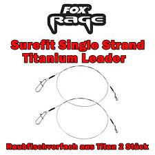 2 Fox Rage Surefit Spin Leaders Spinnvorfächer Stahlvorfächer Hechtködervorfach