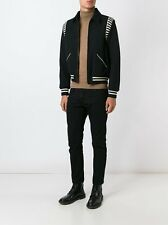 Nouveau $2590 homme Saint Laurent Paris SLP YSL emblématique Teddy Bomber Jacket IT44 XS S