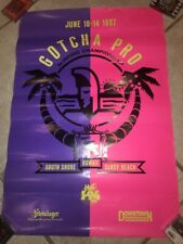 Vintage 1987 Gotcha Pro Surf Contest Poster 1980s 80s South Shore Hawaii