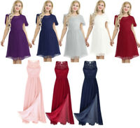 Women Chiffon Evening Dress Bridesmaid Formal Ball Gown Party Prom Cocktail Maxi