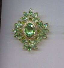 Green Clear Huge Maltese Prong Set pin