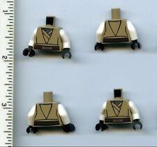 Star Wars LEGO x 4 Dark Tan Torso SW Eeth Koth Pattern White Arms Jedi Knight