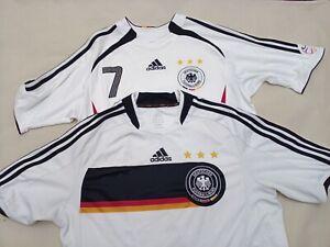 2 Adidas Deutschland soccer home jersey 2006 & 2008 (sizes S-M) football trikot