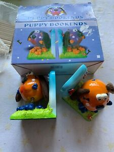 BNIB Puppy Dog Ceramic Bookends