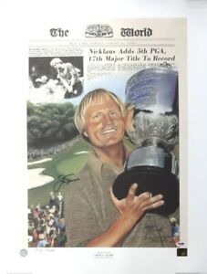 Jack Nicklaus Autographed Signed 20x27 Lithograph 1980 PGA PSA/DNA COA Q65195