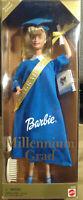2000 Millennium Grad Barbie Doll Blue Graduation Gown & Yearbook  #25708 NIB