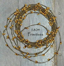 18ft Primitive Single Ply Pip Berry Roping Garland ~ OLD GOLD