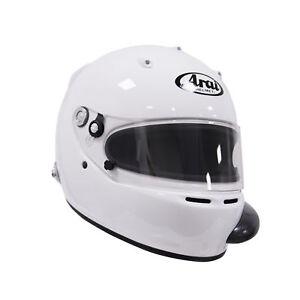 Arai GP-5 (A/C) PED w/ HANS White Small SA2005 Car Racing Helmet