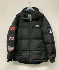 Helly Hansen tri flag padded puffer jacket medium black UK USA NORWAY